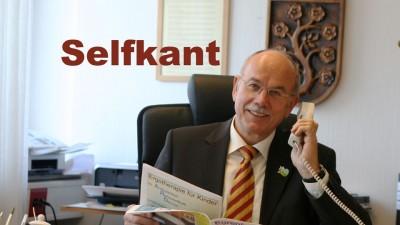 Bürgermeister Herbert Corsten der Gemeinde Selfkant und die LED-Technik