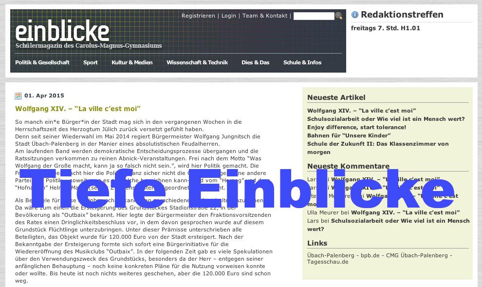 EINBLICKE ins Carolus-Magnus-Gymnasium (CMG) - genial