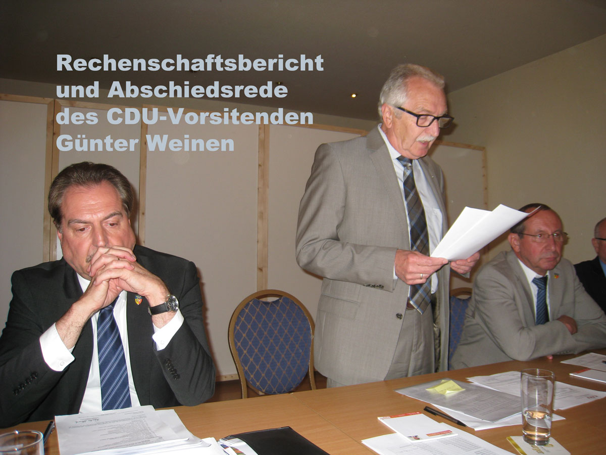 Günter Weinen Abschiedsrede