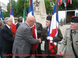 8. Mai 2015 -Ehrerbietung vor den franz. Veteranen