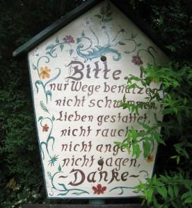 Willy-Dohmen-Park - ein Platz der Liebe