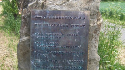 Westzipfel: Westlichster Grenzstein der BRD