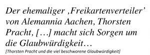 Thorsten Pracht und Alemannia Aachen