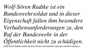 Wolf-Sören Radtke Bundeswehr Presssefreiheit