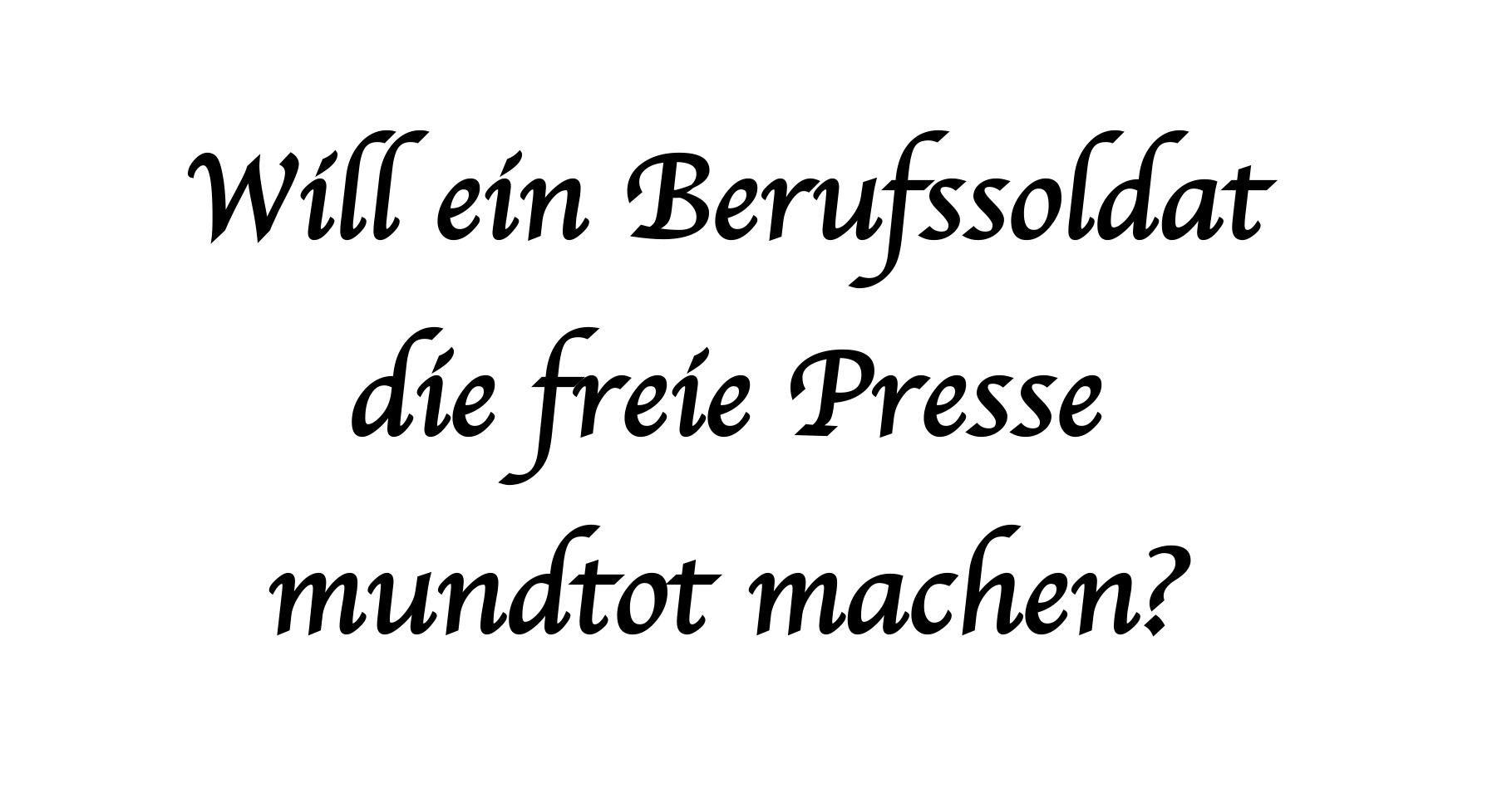 Will Wolf-Sören Radtke die Presse mundtot machen?