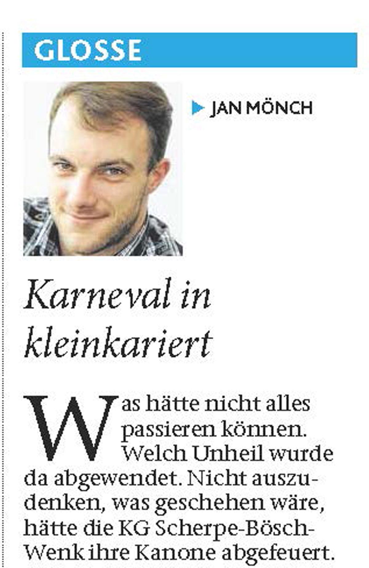 Kanonensplitter tötet Schützenkönig - Eine Glosse von Jan Mönch