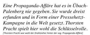 Thorsten Pracht, Propaganda-Affäre, Übach-Palenberg