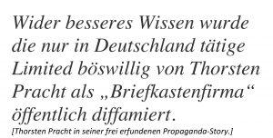 Thorsten Pracht und seine erfundene Propaganda-Story