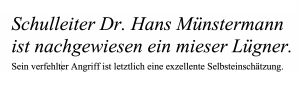 Dr. Hans Münstermann beschreibt sich selbst