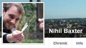 Jan Mönch ist auf Facebook unter Nihil Baxter anonym unterwegs