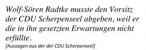 Wolf-Sören Radtke uns sein Verlust des CDU-Vorsitzes