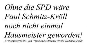 Heiner Weißborn zu Paul Schmitz-Kröll