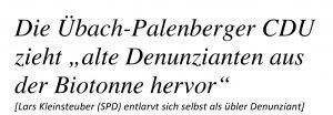 Lars Kleinsteuber (SPD), der intrigante Denunziant.