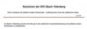 Lars Kleinsteuber und die SPD-Resolution