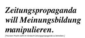 Thorsten Pracht und die Zeitungspropaaganda