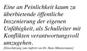 Auftritt von Dr. Hans Münstermann