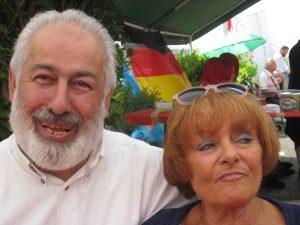 Norma Kuhlmey und Hüseyin Salin auf der Kermesi der Übach-Palenberger Moschee im Mai 2015