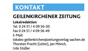 Leiter der Lokalredaktion Geilenkirchen ist Thorsten Pracht