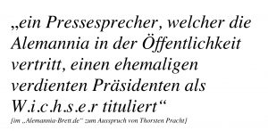 Thorsten Pracht und sein öffentlicher Wichser-Ausspruch