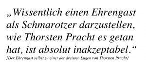 Thorsten Pracht setzte ganz bewusst eine Lüge in die Welt.